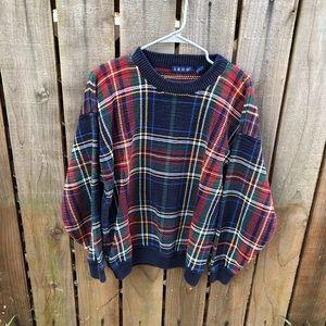 Vintage IZOD Men's Plaid Sweater